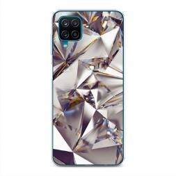 Силиконовый чехол Бриллианты на Samsung Galaxy A12