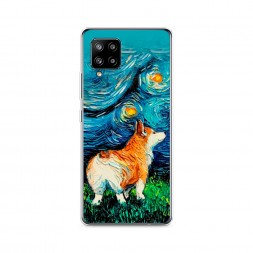 Силиконовый чехол Корги звёздная ночь на Samsung Galaxy A42