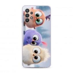 Силиконовый чехол Птенчики на Samsung Galaxy A32