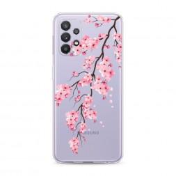 Силиконовый чехол Розовая сакура на Samsung Galaxy A32