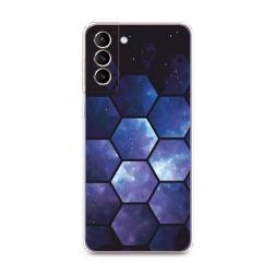 Силиконовый чехол Соты космос на Samsung Galaxy S21 Plus