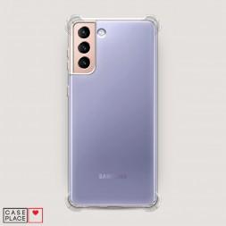 Противоударный силиконовый чехол Прозрачный на Samsung Galaxy S21 Plus