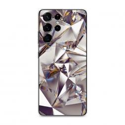 Силиконовый чехол Бриллианты на Samsung Galaxy S21 Ultra