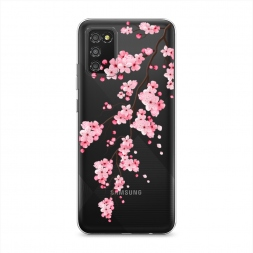 Силиконовый чехол Розовая сакура на Samsung Galaxy A02s