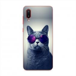 Силиконовый чехол Космический кот на Samsung Galaxy A02