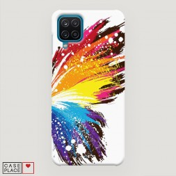 Пластиковый чехол Бабочка арт 2 на Samsung Galaxy M12