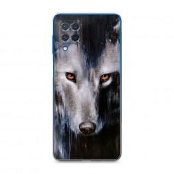 Силиконовый чехол Волк холст на Samsung Galaxy M62