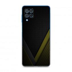 Силиконовый чехол Желтый карбон на Samsung Galaxy M62