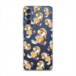 Силиконовый чехол Лола Банни фон на Samsung Galaxy S21 FE