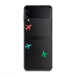 Силиконовый чехол Flights travel на Samsung Galaxy Z Flip 3