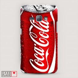 Пластиковый чехол Кока Кола на Samsung Galaxy J1 2016