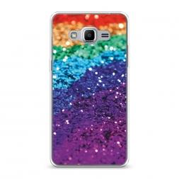 Силиконовый чехол Блестящая радуга рисунок на Samsung Galaxy J2 Prime 2016