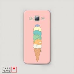 Пластиковый чехол Милое мороженое на Samsung Galaxy J5