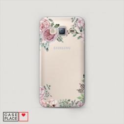 Пластиковый чехол Нежные розы акварель на Samsung Galaxy J5