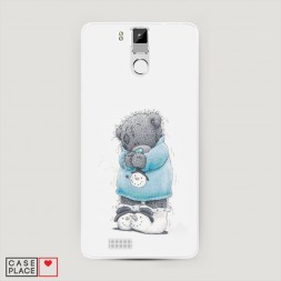 Силиконовый чехол Me to you снеговик на Oukitel K6000 Pro