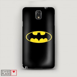 Пластиковый чехол Бэтман черный на Samsung Galaxy Note 3