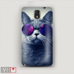 Пластиковый чехол Космический кот на Samsung Galaxy Note 3