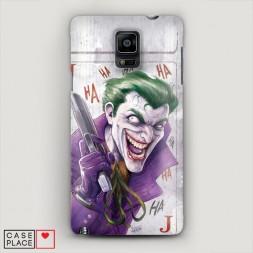 Пластиковый чехол Рисованный Джокер на Samsung Galaxy Note 4