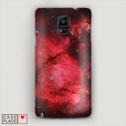 Пластиковый чехол Космос красный на Samsung Galaxy Note 4