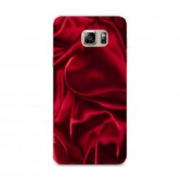 Силиконовый чехол Текстура красный шелк на Samsung Galaxy Note 5