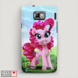 Пластиковый чехол My little pony 4 на Samsung Galaxy S2