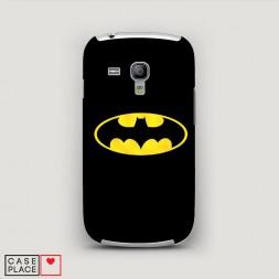 Пластиковый чехол Бэтман черный на Samsung Galaxy S3 mini