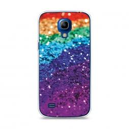 Силиконовый чехол Блестящая радуга рисунок на Samsung Galaxy S4 mini