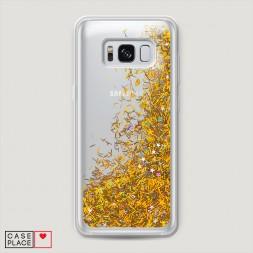 Жидкий чехол с блестками без принта на Samsung Galaxy S8