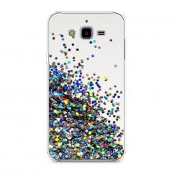 Силиконовый чехол Россыпь пайеток рисунок на Samsung Galaxy J7 Neo