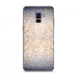 Силиконовый чехол Мерцание рисунок на Samsung Galaxy A8 2018