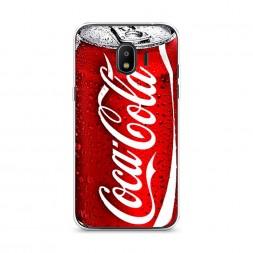 Силиконовый чехол Кока Кола на Samsung Galaxy J2 2018