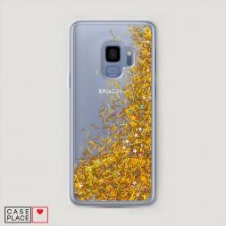 Жидкий чехол с блестками без принта на Samsung Galaxy S9
