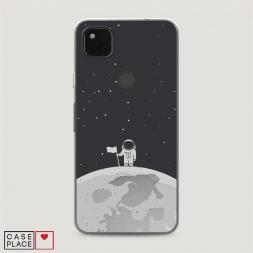 Силиконовый чехол Первый на Луне на Google Pixel 4A