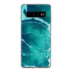Силиконовый чехол Изумрудный океан на Samsung Galaxy S10 Plus