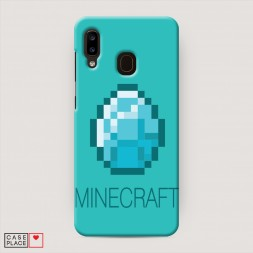 Пластиковый чехол Minecraft алмаз на Samsung Galaxy A30