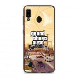 Силиконовый чехол GTA san andreas пейзаж на Samsung Galaxy A30