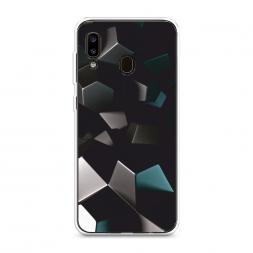 Силиконовый чехол Геометрия 20 на Samsung Galaxy A20