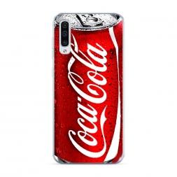 Силиконовый чехол Кока Кола на Samsung Galaxy A50