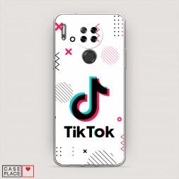 Силиконовый чехол TikTok геометрия на Blackview A80