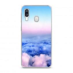 Силиконовый чехол Облака на Samsung Galaxy A40