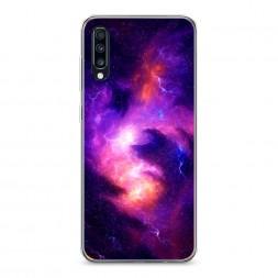 Силиконовый чехол Космос 4 на Samsung Galaxy A70