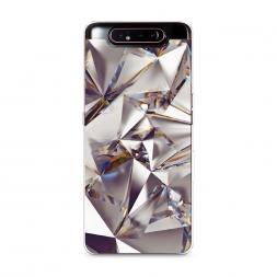 Силиконовый чехол Бриллианты на Samsung Galaxy A80
