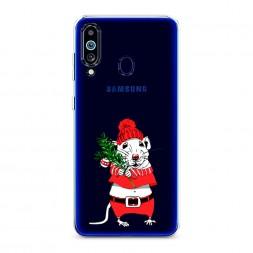 Силиконовый чехол Новогодняя крыска на Samsung Galaxy M40