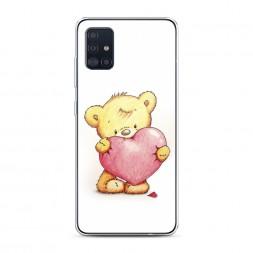 Силиконовый чехол Мишка с сердцем 3