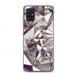Силиконовый чехол Бриллианты на Samsung Galaxy A51