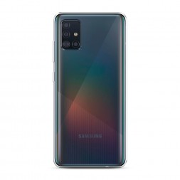 Силиконовый чехол без принта на Samsung Galaxy A51