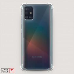 Противоударный силиконовый чехол Прозрачный на Samsung Galaxy A51