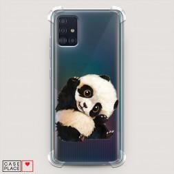 Противоударный силиконовый чехол Большеглазая панда