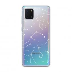 Силиконовый чехол Созвездия на Samsung Galaxy Note 10 Lite