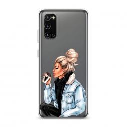 Силиконовый чехол Cute girl на Samsung Galaxy S20